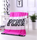 wholesale victoria's secret light weight super soft pink show blanket
