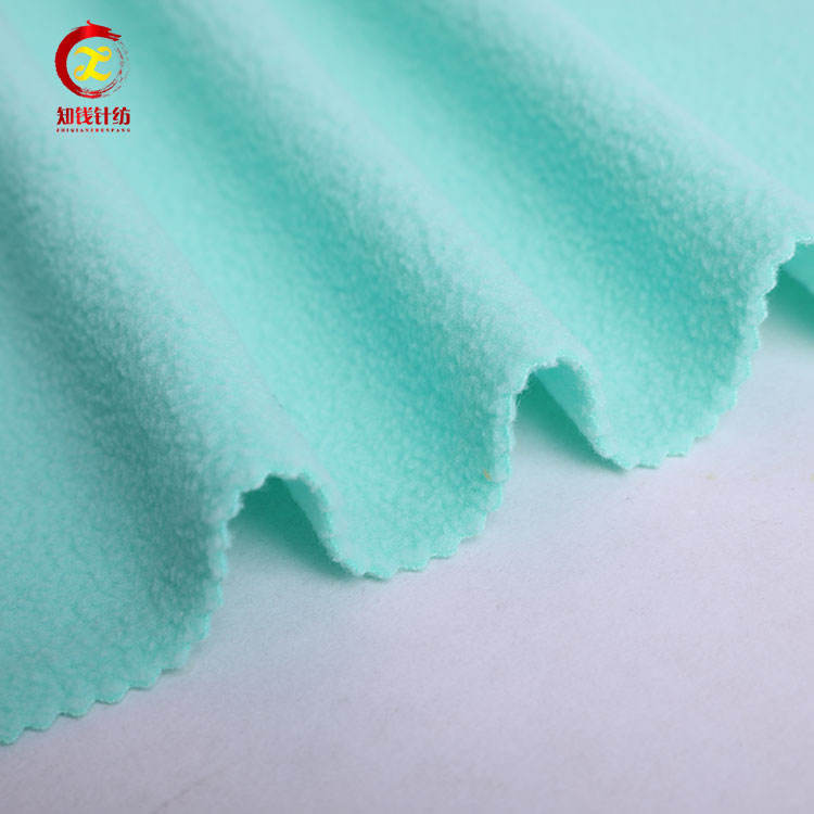 Two side brushed clothes fabric polyester knitted fabric roll pig fleece fabric
