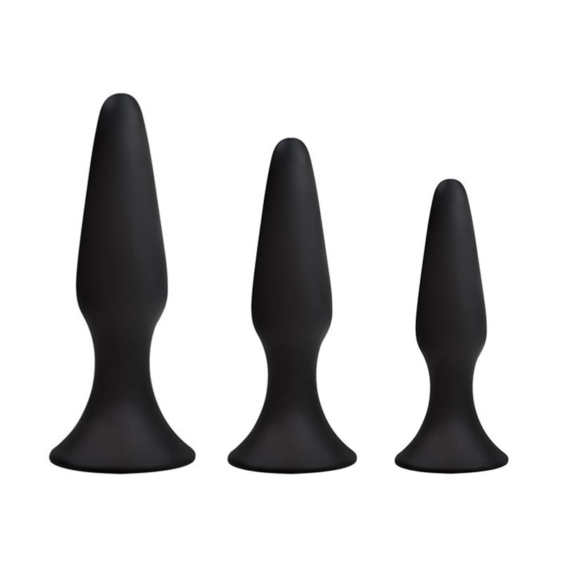 Medical Silicone Butt Plugs(small,middle,large size), Butt Plug Triple Pack Anal Sex Toy Sex Products