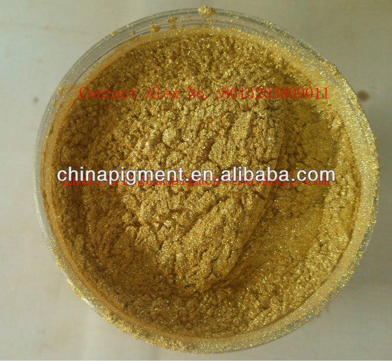 Synthetic Gold Pearl Pigment-LB9355 10-100um Flash Rich Gold Pearl Pigment
