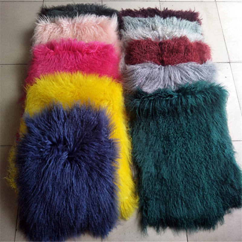 Af-27 wholesale hot sale Real Mongolian Lamb Fur Pelts/Sheep Skin /Tibetan Lamb Fur Skin
