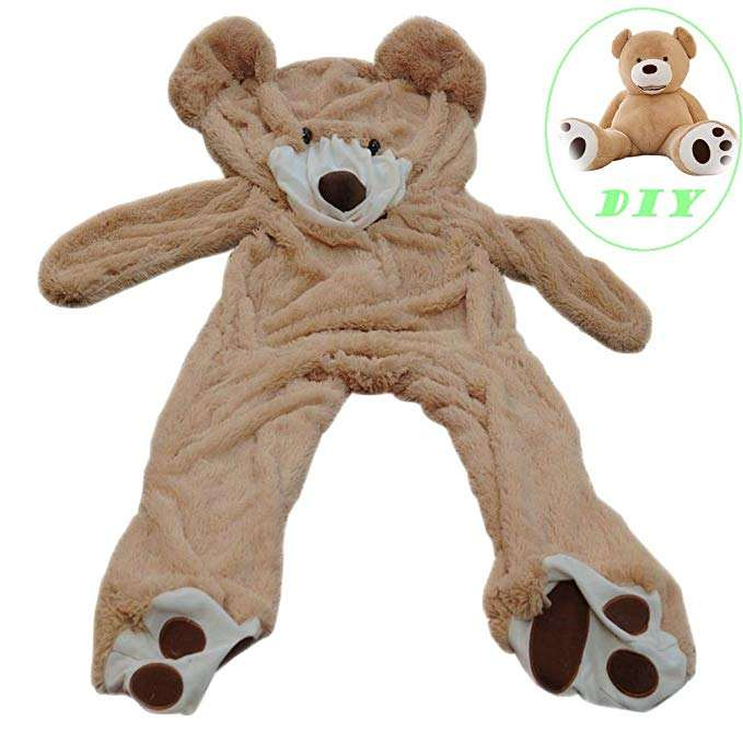 Teddy Bear Cover/ DIY Gift Huge Plush Teddy Bear/ Unstuffed Life Size Teddy Bear Giant Animal Toy