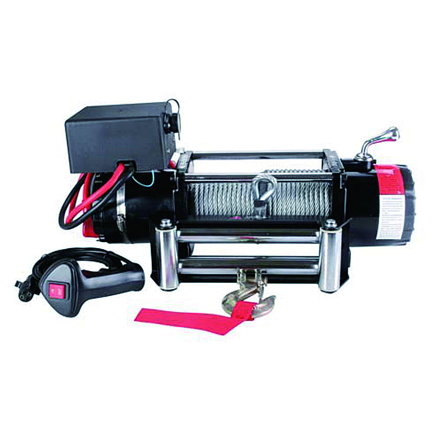6000lbs 12v electric remote control car winch with wire rope