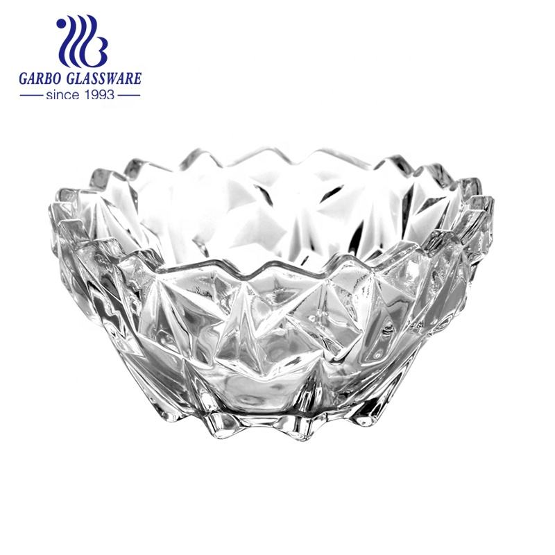 new item super white quality fruit nut salad glass bowl set