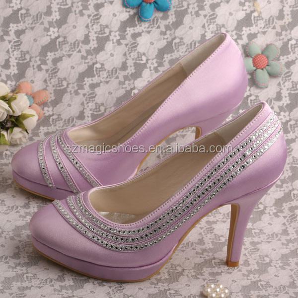 (23 Colors)Beauty Heel Shoes Lavender Color