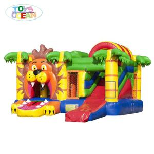 inflatable multiply lion/inflatable lion jumping castle with slide/air lion bouncer game