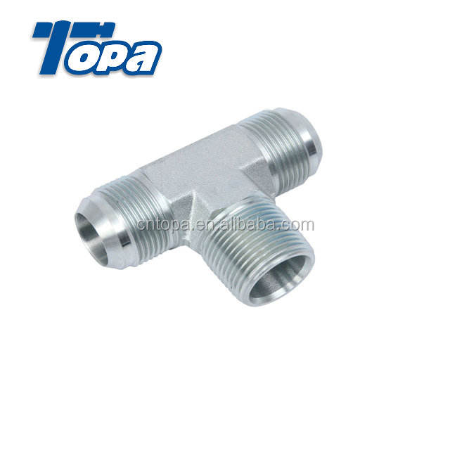Equal Tee hydraulic fitting 45 degree pipe fitting lateral tee