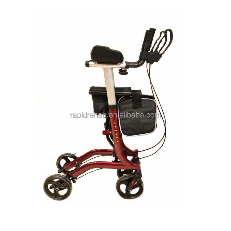 Foldable Aluminum forearm walker rollator with seat for elderly and disabled people