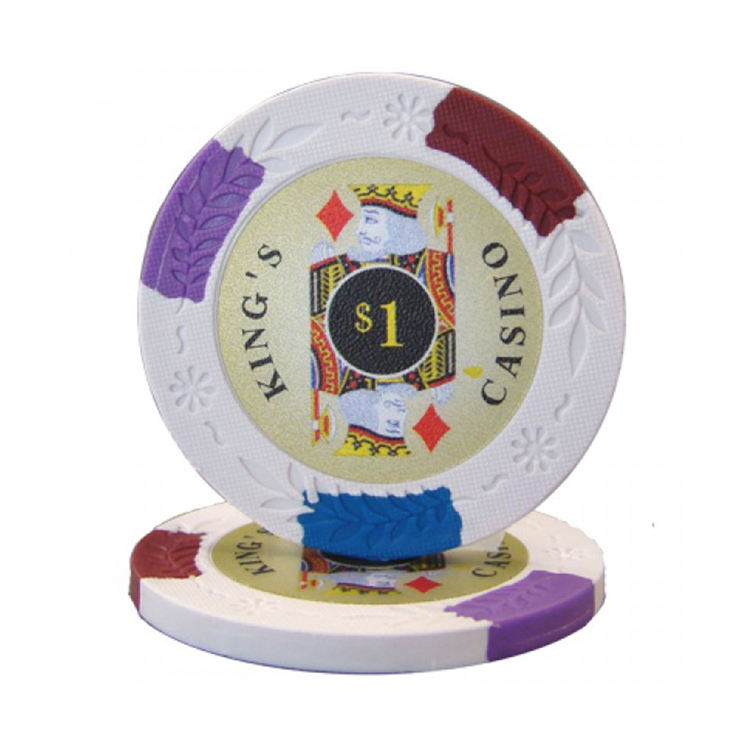 14g & 4 Color imprint casino clay poker chips
