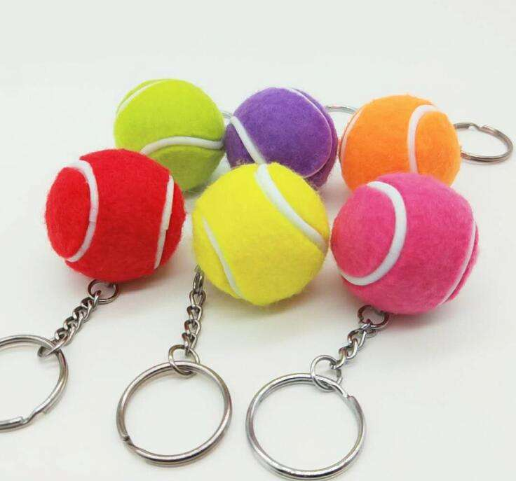 Tennis ball Keychain Cute Cartoon Characters hangings sport gifts