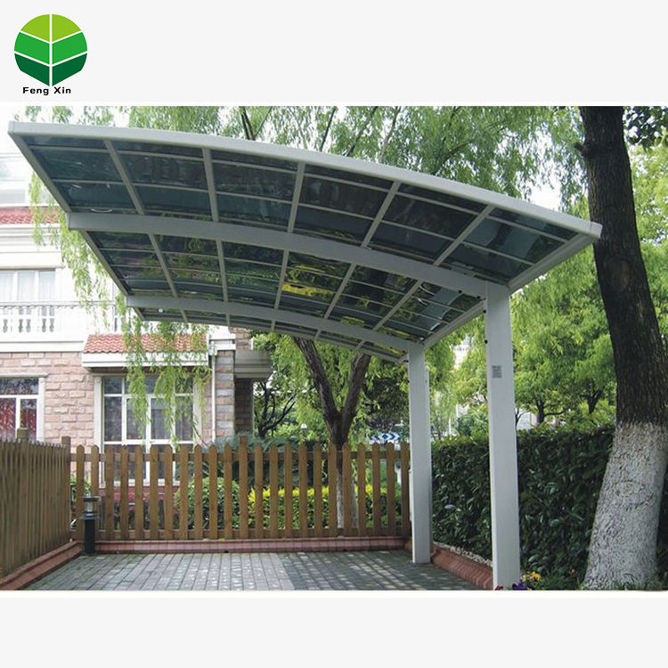 China Made Outdoor Sun Shading Metal Double Carport Canopy Garages Car Shelter