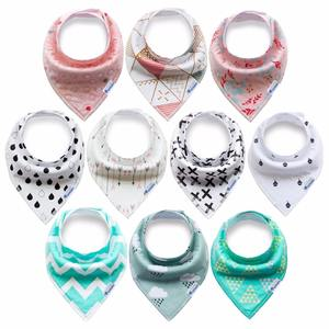 4 6 8 10 pack eco friendly organic cotton fleece flannel plaid baby bandana drool bibs set for boy girl unisex babies