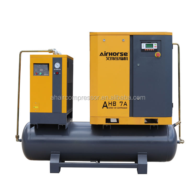 Three-in-one compressor 5.5kw / 7.5hp high quality air screw compressor