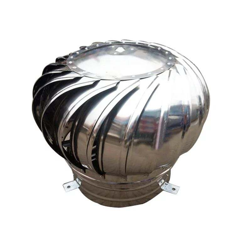 Angin Didorong Turbin Ventilator Udara Roof Fan Exhaust Fan Stainless Steel Angin Turbine Ventilator dengan Pelat Dasar