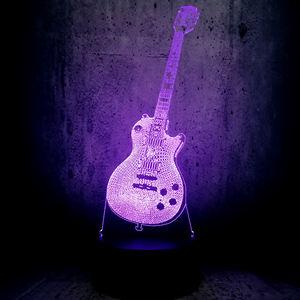 Musique Belle mignonne Guitare Basse forme 3D LED LAMPE VEILLEUSE pour les Musiciens Maison Décoration De Table Anniversaire Cadeau De Noël Cadeau