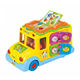 Huile / Hola toys 796 intelligent baby school bus toy with light and music HC140505
