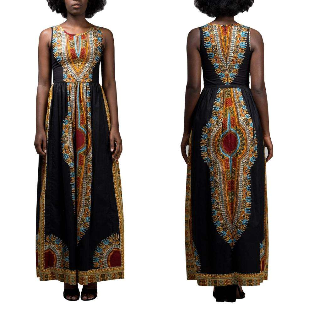 Bazin riche robes africain dashiki robe maxi