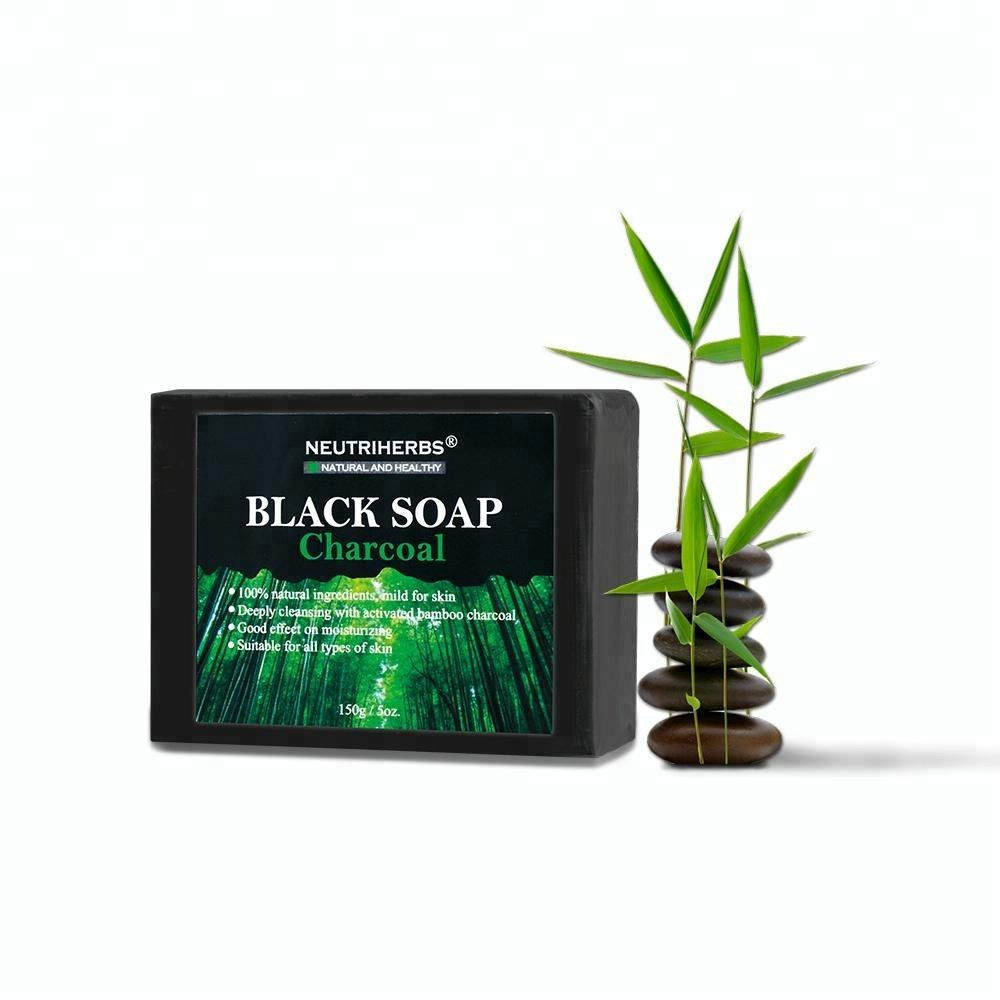 Beauty Product Bamboo Charcoal Whitening Handmade African Black Soap For Women Skin Care
