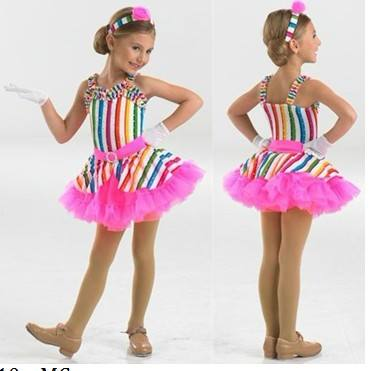 J000077Child Rosa Viola Lycrial di Balletto Costume di Ballo Tutu Body Dress