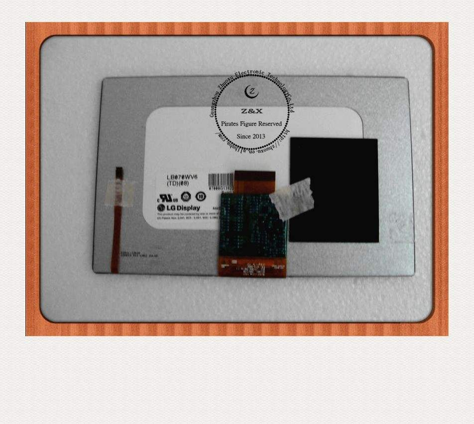 For GPS Archos 70 LCD Display Screen LB070WV6(TD) (08) LB070WV6-TD08 Original 7 inch 800*480 LED for LG