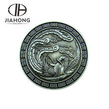 High quality custom made blank bronze Chinese dragon coin
