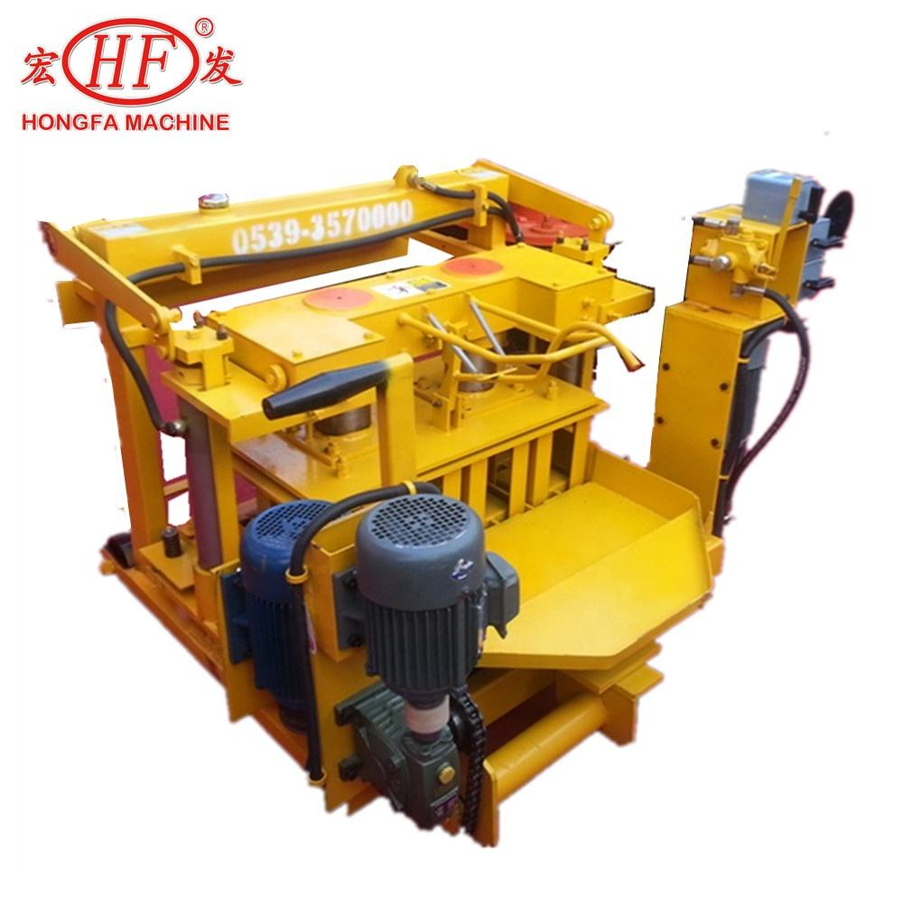 Mobile Cement Sand block moulding machine price in China QMJ4-30 details