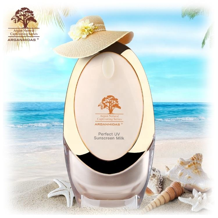 Custom Logo Whitening Sun Protection Lotion Best Waterproof Sunscreen SPF 50+ PA+++ For Body Skin