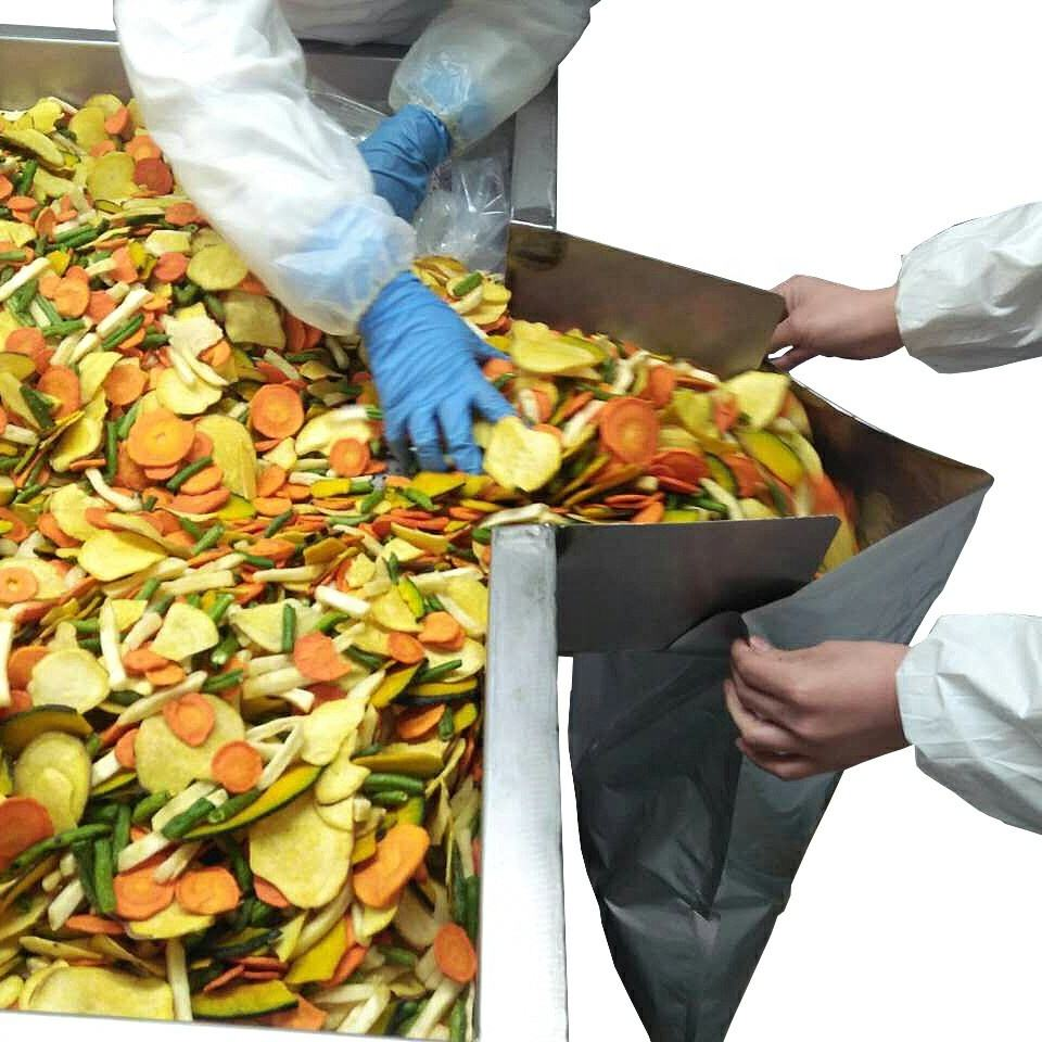 Low temperature Vacuum Fried mixed vegetable chips, Snacks foods