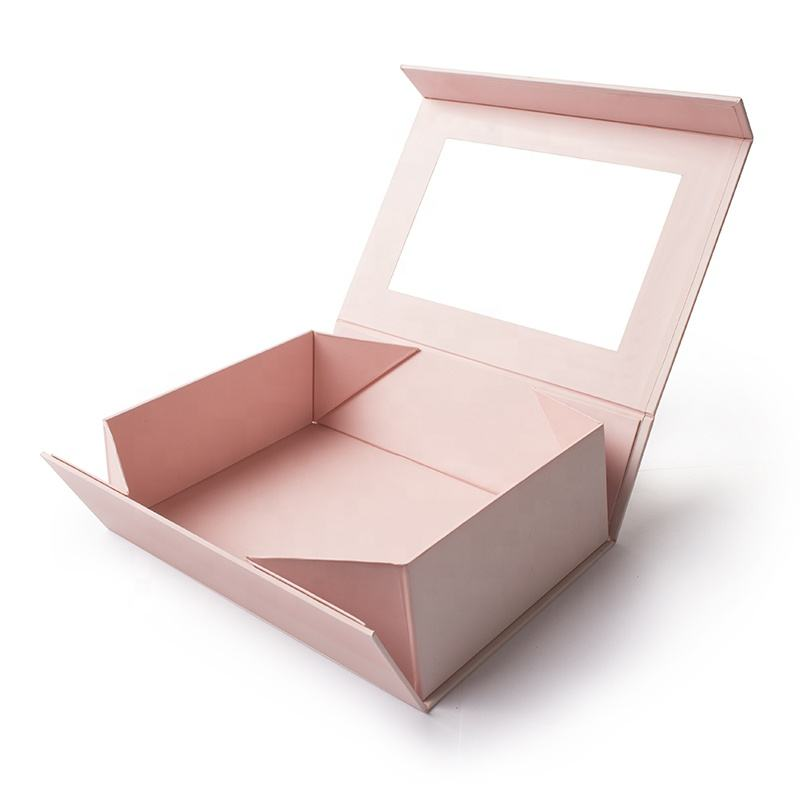 Flat Folding Cardboard Gift box Collapsible Magnetic Box Custom Magnetic Closure Foldable Boxes
