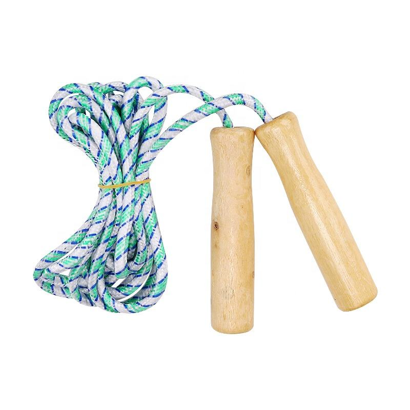 Wooden jump rope kids speed`Fitness Calorie skipping rope for children