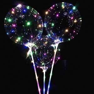 Wholesale Function Luminous Stick Flashing Led Light Transparent Balloon Christmas Or Birthday Party Decoration