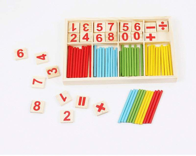 Blister packing Kids education Primary school students Auxiliary tool count math wooden toy