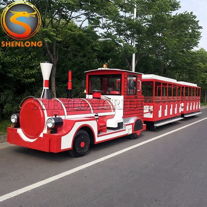 China Supplier Electric train trackless diesel road train