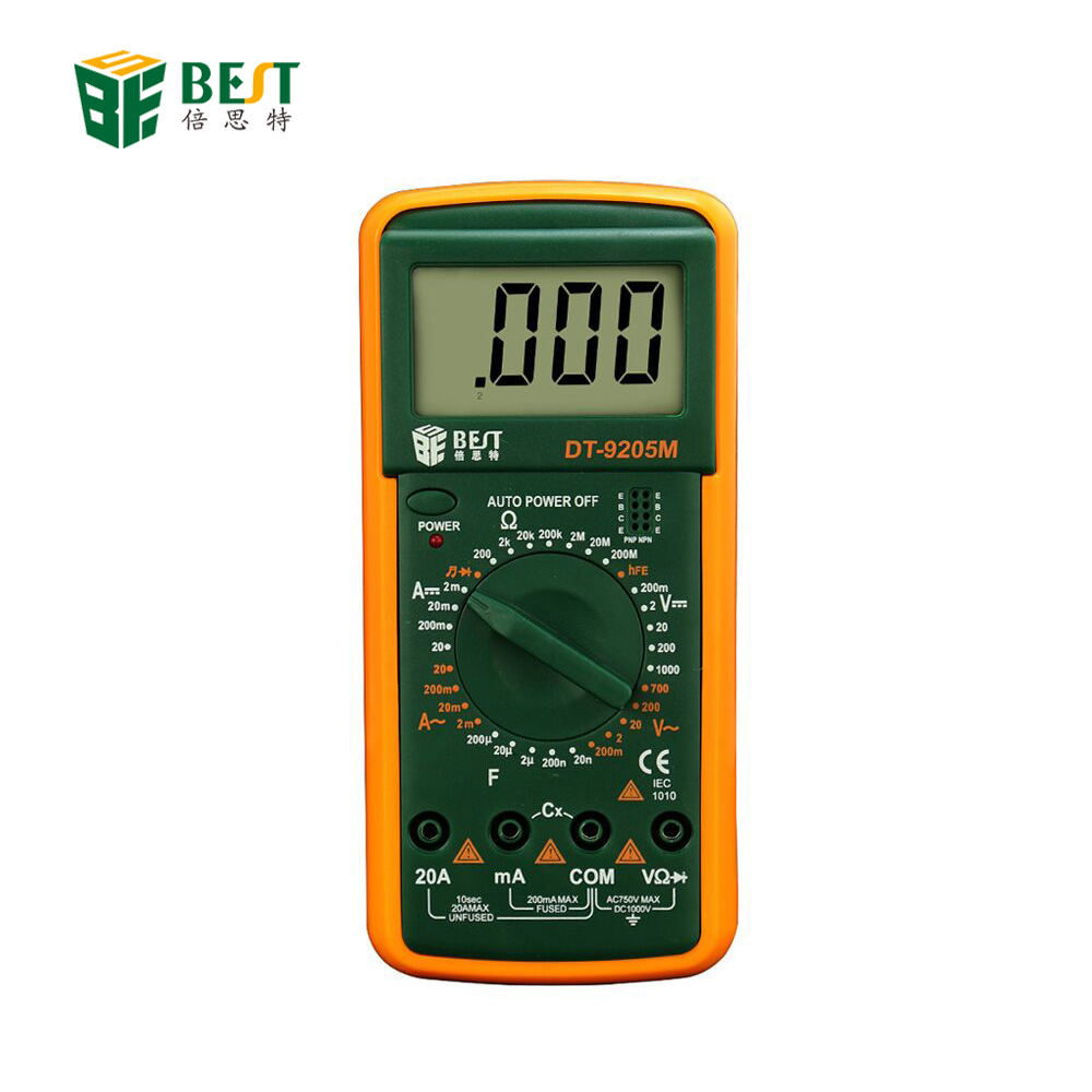 BST- DT 9205A/M Digital Multimeter Handheld Customized Multimeter LCD Display AC/DC Current Testing