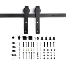 6.6 Feet Rail Hanging Sliding Single Barn Door Hardware Kits