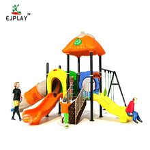 Popular Kids Plastic Outdoor Playground Equipment Slide And Swing Set