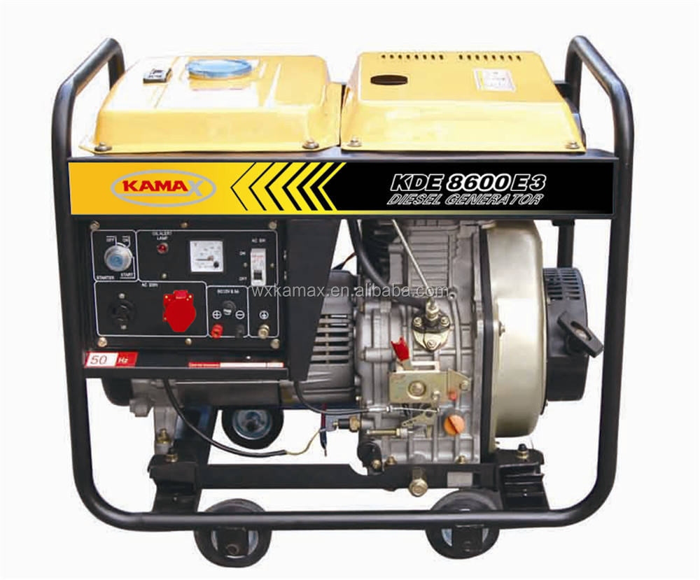 CE approved portable diesel generator 8kva