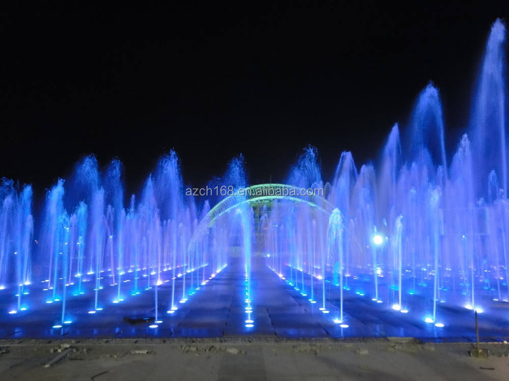 Dancing Music Water Fountains Dancing And Musical Public Water Fountain With Colorful Lights