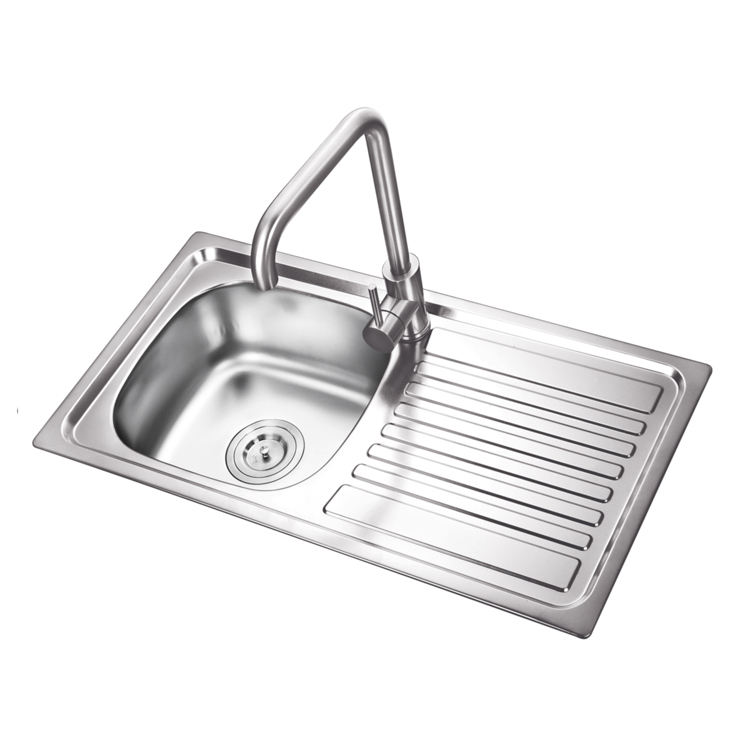 K-E7639B stainless steel sink with drain board/ kitchen sink undermount/ tunisia sink
