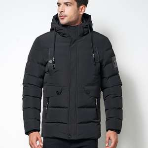 cz1813mb Custom hot sale men winter long down jacket Black Plus Size XL-5XL hooded keep warm long down coats men