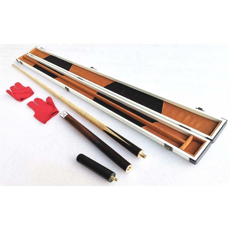 New Promotion 3/4-pc Handmade Snooker / Billiard Cue with leather wooden Case Kit