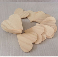 solid wood heart DIY unfinished wood heart 2""