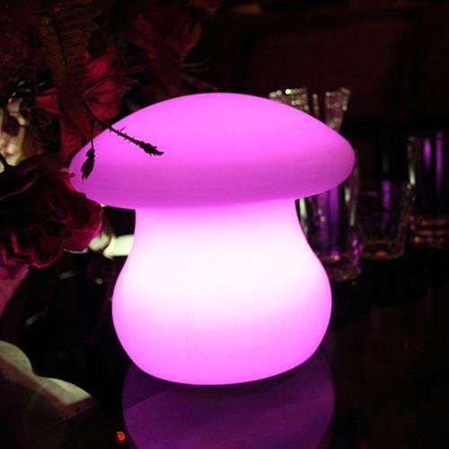 Wholesale 16 color changed led table decorative night light glowing mushrooms