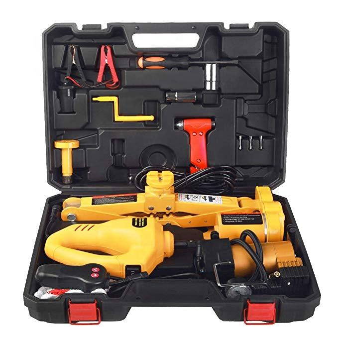 12V 3 Tons Car Electric Jacks Tire Replacing Tool Hydraulic Floor Jack Set Impact Wrench Tool Auto Lifting Repair Tools Kit