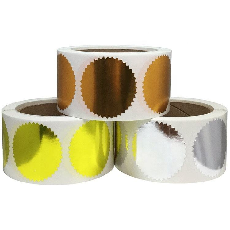 Hoge Kwaliteit Custom Roll Gold Label Stickers Wafer Seal Stickers
