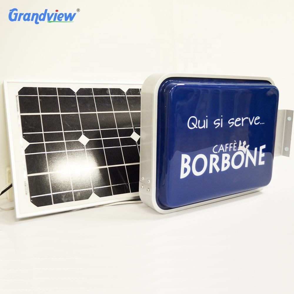 New Outdoor Solar Power Light Box Signage Vacuum Forming Light Box