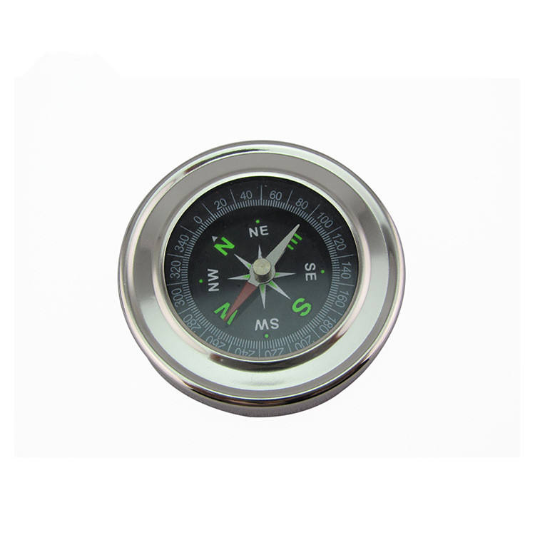 New Items Outdoor Camping Travelling 60mm Diameter Stainless Steel Compass
