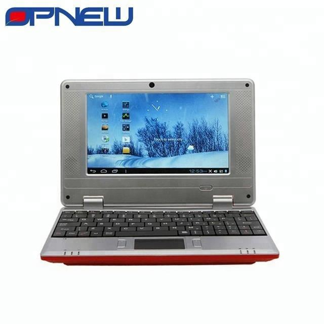 Laptop Mini 7 Inci Siswa Android 4.4, Laptop Inti Ganda Melalui 8880 Cpu WIFI USB RJ45 Port HDM Eksternal 3G