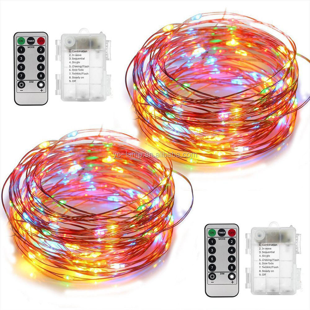 Led Copper Wire String Battery Operated Remote Control Copper Wire Led Submersible Micro Fairy Seed Light