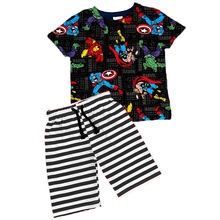 Boys boutique clothes .Superhero pattern printed boys Suit Children Clothes Baby boys Clothing set